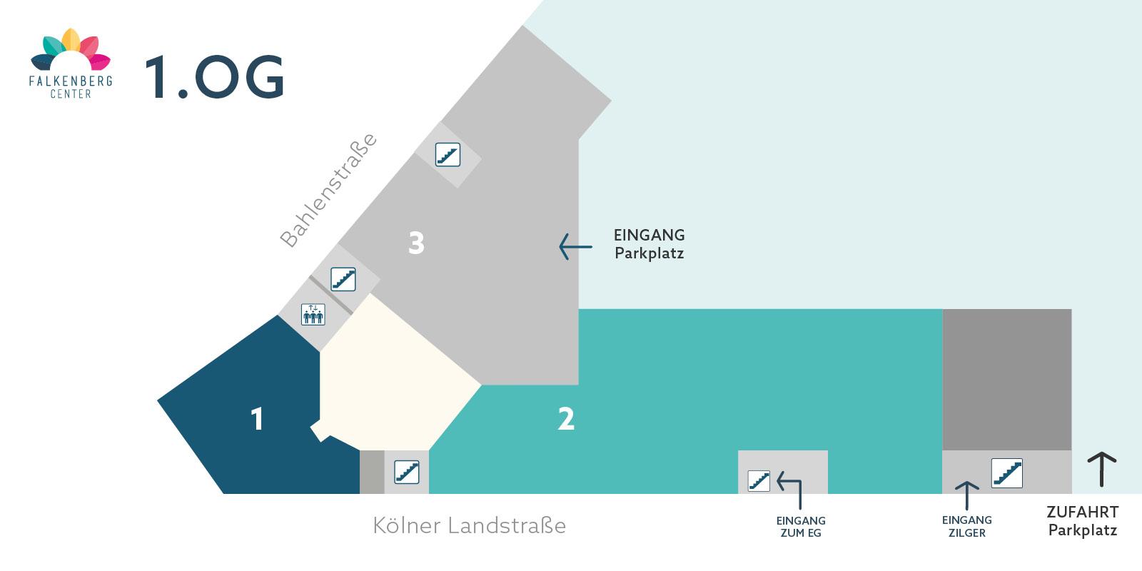Falkenberg Center - Lageplan 1.OG