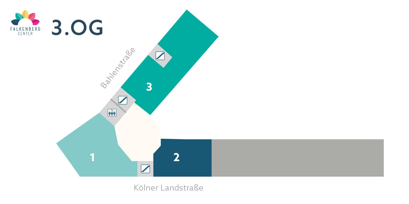 Falkenberg Center - Lageplan 3.OG