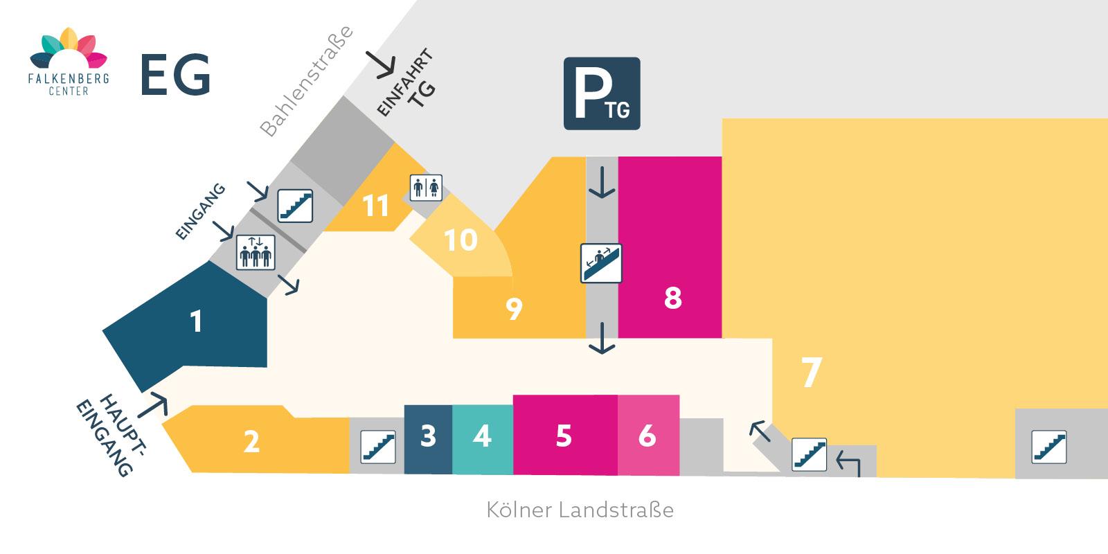 Falkenberg Center - Lageplan Erdgeschoss